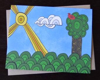 Circlescape Whimsical Landscape Notecard Set