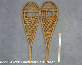 Authentic Vintage Pair of Snowshoes (ER-47-90-G228)