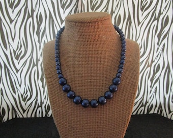 Multi Sizes Blue Pearl Necklace