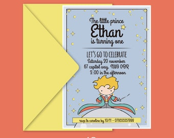 The Little Prince Printable Invitation   The Little Prince Party   Petit prince   Petit prince invite   The Little Prince Printable   Custom