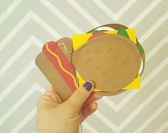 Hamburger & Hot Dog Garland