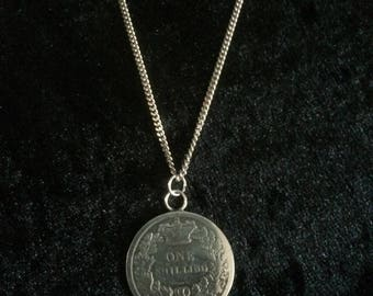 1839 One Shilling Coin Necklace