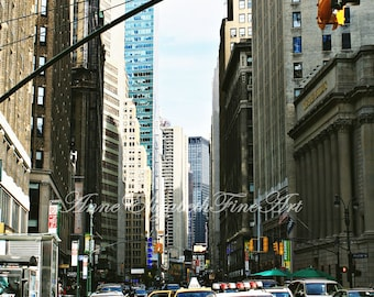 New York Photograph, 8 x 10, Fine Art,Portrait, Fashion Photography,Yellow Taxi Cab, Street,Urban,Manhatten, Color,Modern,  NYC  Dorm Decor