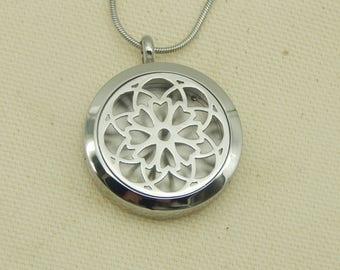 Hearts 30mm Aromatherapy Locket, Stainless steel Locket, Religious Locket,