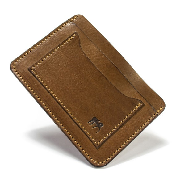 Credit cards holder and banknote holder 4 partitions made in Italy vegetable tanned leather choose COLORS