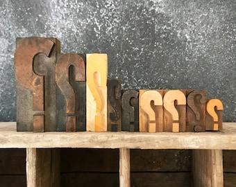 Choose Your Size / Letterpress Question Mark / Vintage Letterpress / Letterpress Punctuation / Printer Block / Wood Question Mark