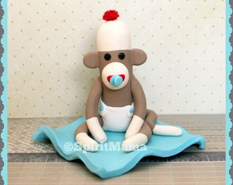 TUTORIAL Sock Monkey Baby Shower Cake Topper Video Class