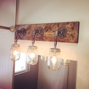 Bathroom Light, Bathroom Decor, Light For Bathroom, Vanity, Mason Jar Light,