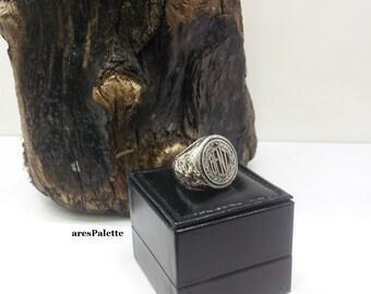 Benz special design ring -925 silver-Handmade