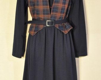 Women's vintage Navy Dress