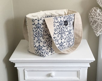Tote Bag, Tote Bag, Project Bag, Hand Bag, Ladies Tote Bag, Knitting Bag