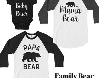 Mama bear baby bear - mama Bear Raglan - mama bear shirt, mama bear maternity, mama bear long sleeve shirt, mama bear baseball tee