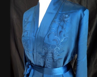 3-piece Silkset, blue, Night wash, size M