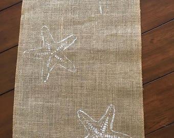 Monogrammed Starfish Burlap Runner