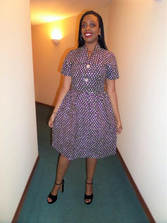Robe courte wax robe africaine robe wax robe pagne