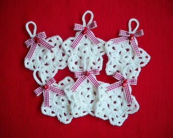 "Christmas ornament - Star white, collection ""Cottage""."