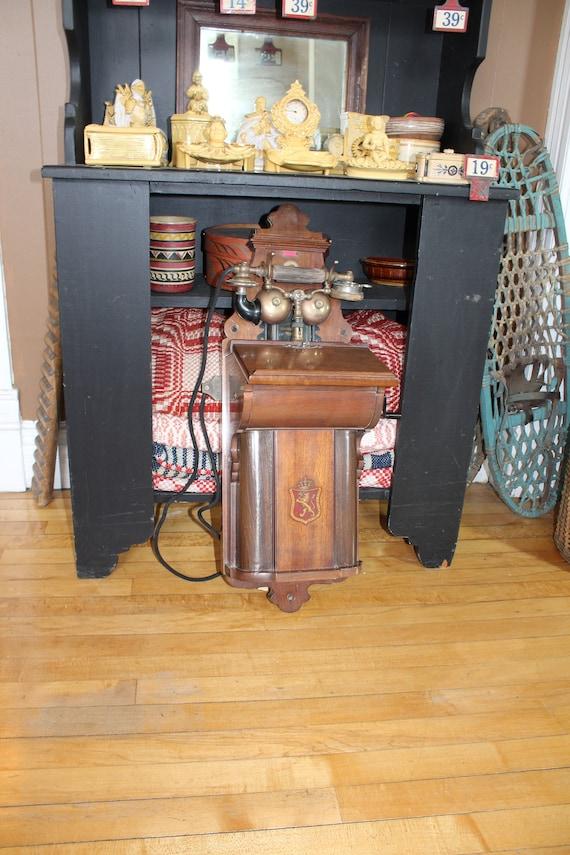 Antique Wall Telephone Aktieselskabet Elektrisk Bureau Kristiania Norge