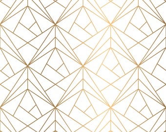 Great Gatsby Geometric Gold Wedding Backdrop Party Backdrop Photo Booth Backdrop
