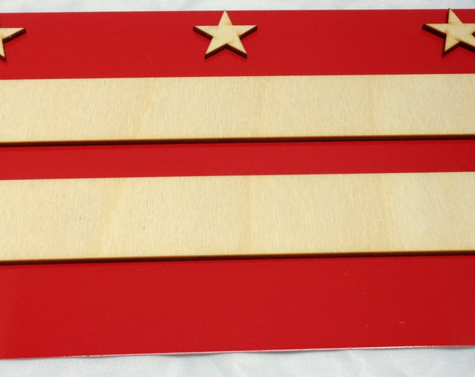 DC Flag Plywood and Recycled Aluminum in Red