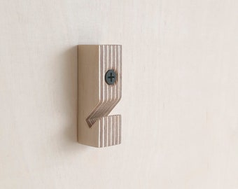 Baltic birch plywood wallhook - no 1 - transparant