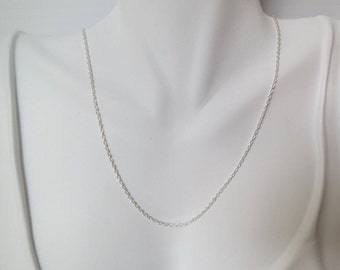 Sterling silver necklace chain,  18 inches
