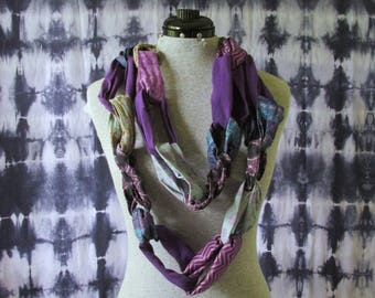 Purple Scarf- Purple Infinity Scarf- Blue Scarf- Circle Scarf- Loop Scarf- Colorful Scarf - One of a Kind- Scarf- Infinity Scarf- Unique