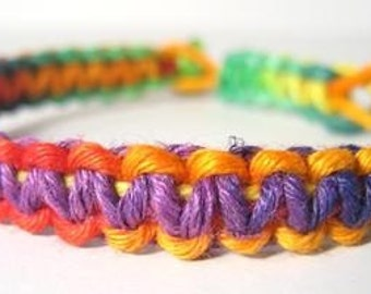 Rainbow Hemp Bracelet - Made to Order