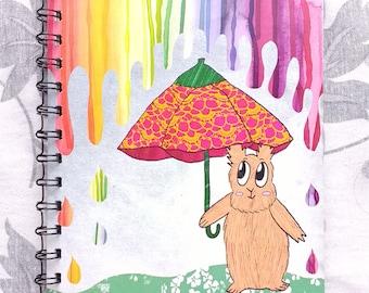 Rainbow drops A5 notebook