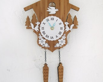 Cuckoo Clock, Modern woodland, Squirrels, Style A