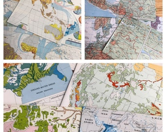 World Atlas Recycled/Upcycled A2 Handmade Envelopes 20 ct.