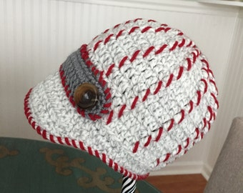 Crocheted Baby Hat - Newsboy e Style - 24-36 months -Toddler Crochet - Toddler Crochet Hat