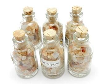 Moonstone in a Bottle - Moonstone Chips (RK502B4-01)