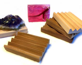 12 elegant cedar soap dishes - The ALL NEW BOARDWALK - less surface area means less sticking - Western Red Cedar