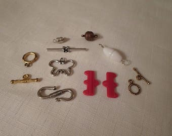 NECKLACE CLASPS & HOOKS / Gold / Silver / Red / Plastic / Magnetic / Necklaces / Chokers / Bracelets / Bangles /  / Jewelry-Making Supplies