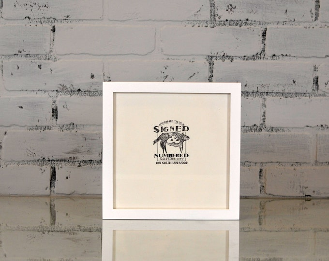 """8x8"""" Picture Frame in PeeWee Style with Solid White Finish - Can Be Any Color - Modern White Frame - Gallery White Frame 8 x 8 Square"""