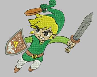 Zelda Machine Embroidery Design - Minish Cap Link 4x4