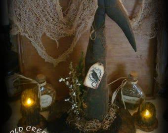 Primitive Witches Hat Halloween Decor/Prop
