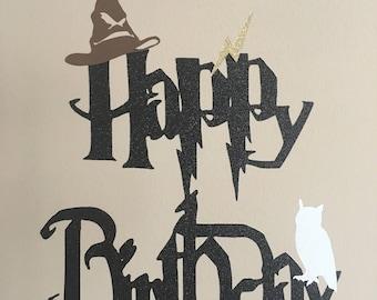 Harry Potter Cake Topper, Wizard Cake Topper