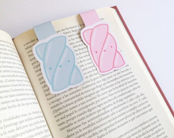 Marshmallow Magnetic Bookmarks - Double Sided