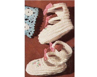 Strappy Booties Shoes Crochet Pattern High Top Slippers Booties Pattern PDF Instant Download