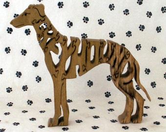 Greyhound Handmade Fretwork Wood Jigsaw Puzzle