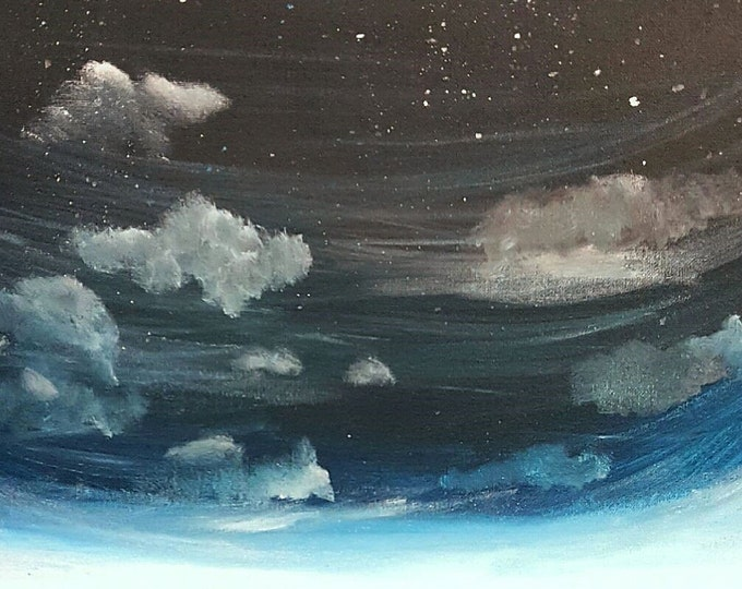 Night Sky Painting - Acrylic Painting - Clearance Sale