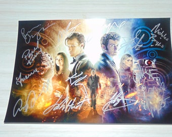 Authentic Doctor Who Signed Autographed Photograph David Tennant John Hurt
