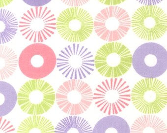 Robert Kaufman Cozy Cottons FLANNEL Fabric- SRKF-13769-198 PASTEL  Pink, purple, and green circles