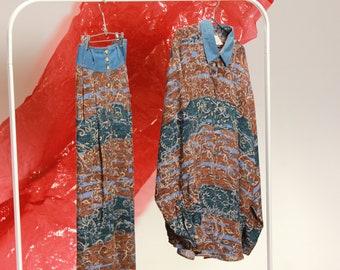 Earth Tone Skirt Set / XL Extra Large