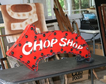 3' Steel Marquee Chop Shop - customizable