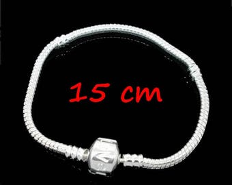 type 1 bracelet for beads Pandora clasp clips LOVE 15 cm