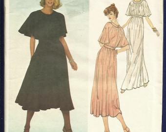 1970's Vogue 2043 Jean Muir Designer Modern Goddess Dress Full & Flowing and So Romantic Size 10 UNCUT