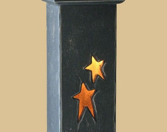 Primitive Wood  Lamp With Night Light