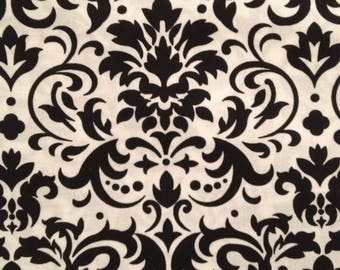 Damask, Large, Black, White, Curtain, Window Treatment, Valance, Home, Home and Living, Accessories, Window Accessories, FREE SHIP